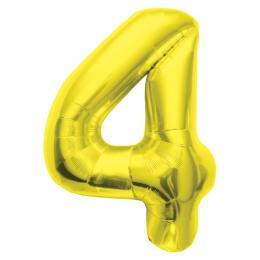 プレミアムレターバルーン ゴールド数字「4」