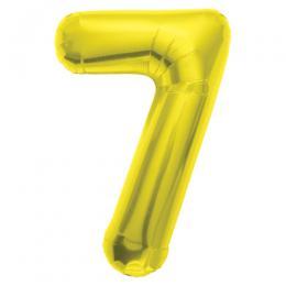 プレミアムレターバルーン ゴールド数字「7」