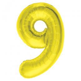 プレミアムレターバルーン ゴールド数字「9」