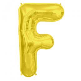 プレミアムレターバルーン ゴールド「F」