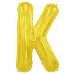 プレミアムレターバルーン ゴールド「K」