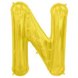プレミアムレターバルーン ゴールド「N」