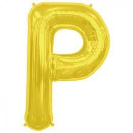 プレミアムレターバルーン ゴールド「P」