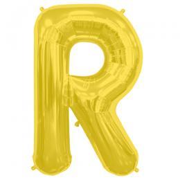 プレミアムレターバルーン ゴールド「R」