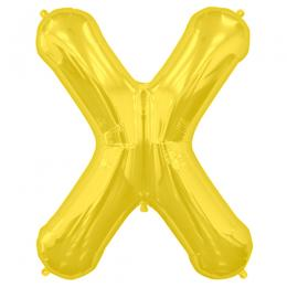 プレミアムレターバルーン ゴールド「X」